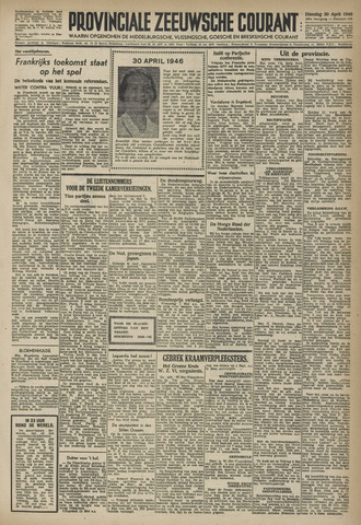 Provinciale Zeeuwse Courant 1946-04-30