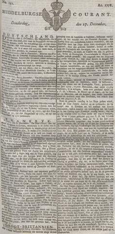 Middelburgsche Courant 1778-12-17
