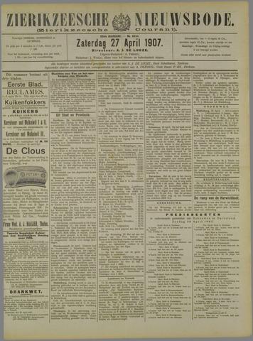 Zierikzeesche Nieuwsbode 1907-04-27