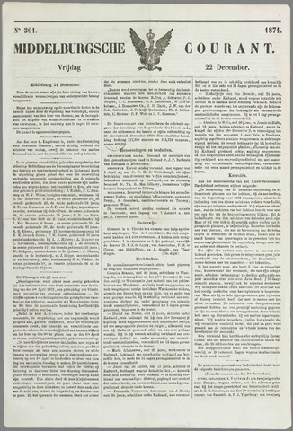 Middelburgsche Courant 1871-12-22
