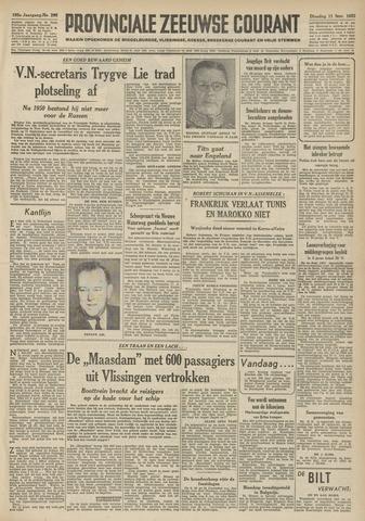 Provinciale Zeeuwse Courant 1952-11-11