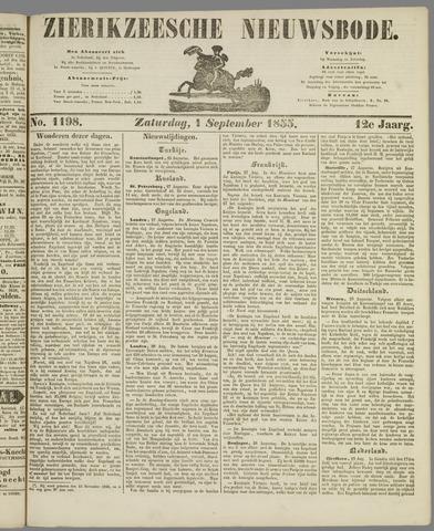 Zierikzeesche Nieuwsbode 1855-09-01