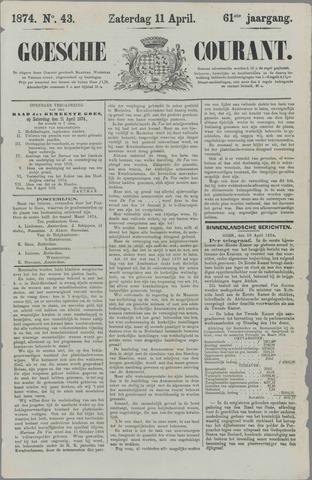 Goessche Courant 1874-04-11
