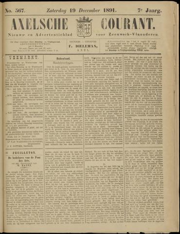 Axelsche Courant 1891-12-19
