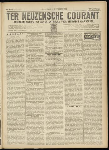 Ter Neuzensche Courant. Algemeen Nieuws- en Advertentieblad voor Zeeuwsch-Vlaanderen / Neuzensche Courant ... (idem) / (Algemeen) nieuws en advertentieblad voor Zeeuwsch-Vlaanderen 1932-10-24