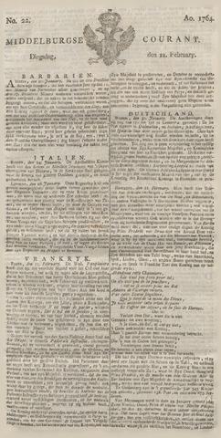 Middelburgsche Courant 1764-02-21