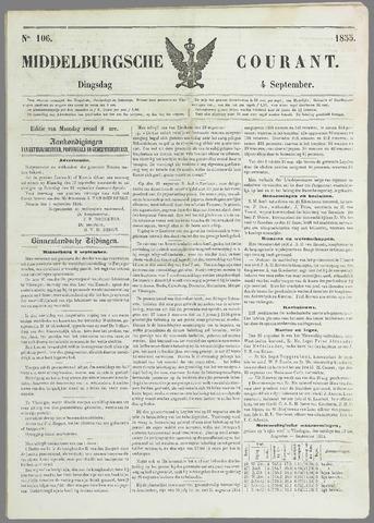Middelburgsche Courant 1855-09-04
