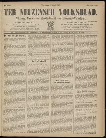 Ter Neuzensch Volksblad. Vrijzinnig nieuws- en advertentieblad voor Zeeuwsch- Vlaanderen / Zeeuwsch Nieuwsblad. Nieuws- en advertentieblad voor Zeeland 1917-06-13