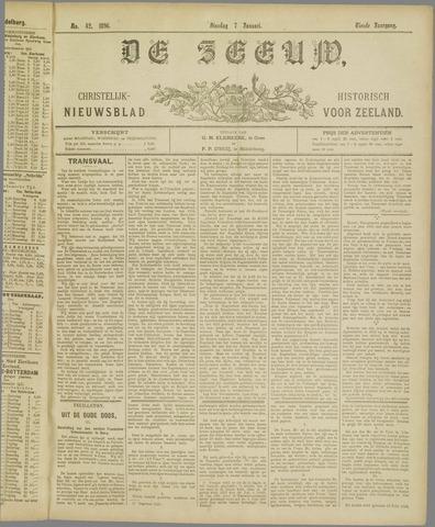 De Zeeuw. Christelijk-historisch nieuwsblad voor Zeeland 1896-01-07