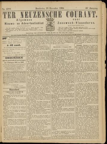 Ter Neuzensche Courant. Algemeen Nieuws- en Advertentieblad voor Zeeuwsch-Vlaanderen / Neuzensche Courant ... (idem) / (Algemeen) nieuws en advertentieblad voor Zeeuwsch-Vlaanderen 1905-12-28