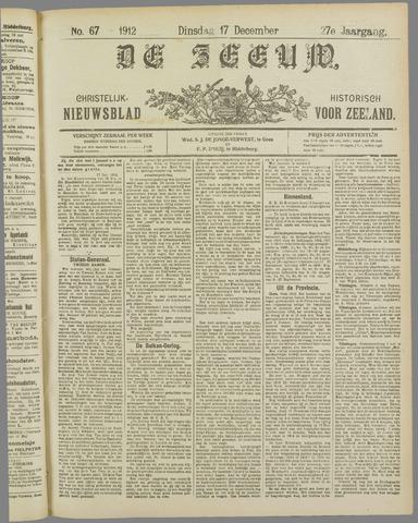 De Zeeuw. Christelijk-historisch nieuwsblad voor Zeeland 1912-12-17