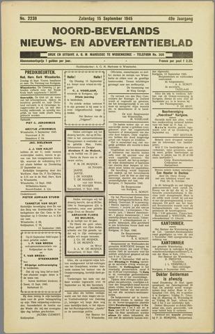 Noord-Bevelands Nieuws- en advertentieblad 1945-09-15