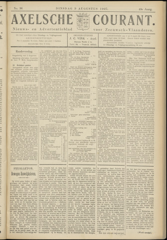 Axelsche Courant 1927-08-09