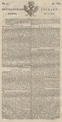 Middelburgsche Courant 1763-04-14