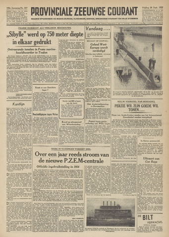 Provinciale Zeeuwse Courant 1952-09-26