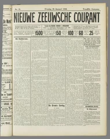 Nieuwe Zeeuwsche Courant 1916-01-25