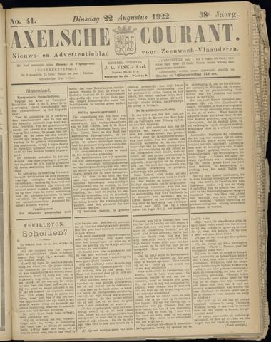 Axelsche Courant 1922-08-22