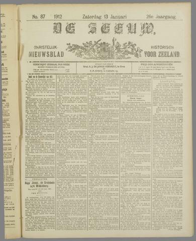 De Zeeuw. Christelijk-historisch nieuwsblad voor Zeeland 1912-01-13
