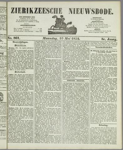 Zierikzeesche Nieuwsbode 1852-05-10