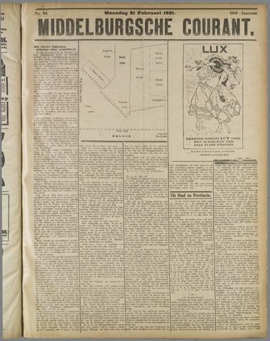 Middelburgsche Courant 1921-02-21