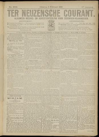 Ter Neuzensche Courant. Algemeen Nieuws- en Advertentieblad voor Zeeuwsch-Vlaanderen / Neuzensche Courant ... (idem) / (Algemeen) nieuws en advertentieblad voor Zeeuwsch-Vlaanderen 1918-02-05