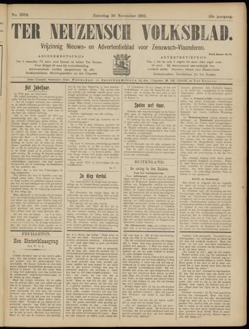 Ter Neuzensch Volksblad. Vrijzinnig nieuws- en advertentieblad voor Zeeuwsch- Vlaanderen / Zeeuwsch Nieuwsblad. Nieuws- en advertentieblad voor Zeeland 1912-11-30