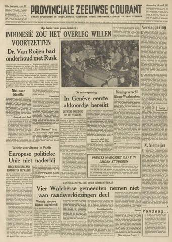 Provinciale Zeeuwse Courant 1962-04-18