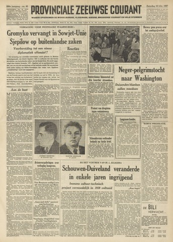Provinciale Zeeuwse Courant 1957-02-16