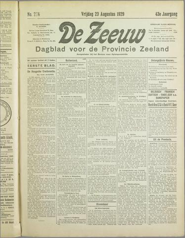 De Zeeuw. Christelijk-historisch nieuwsblad voor Zeeland 1929-08-23