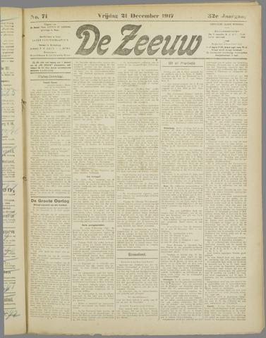 De Zeeuw. Christelijk-historisch nieuwsblad voor Zeeland 1917-12-21