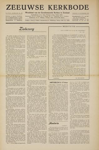 Zeeuwsche kerkbode, weekblad gewijd aan de belangen der gereformeerde kerken/ Zeeuwsch kerkblad 1955-11-11