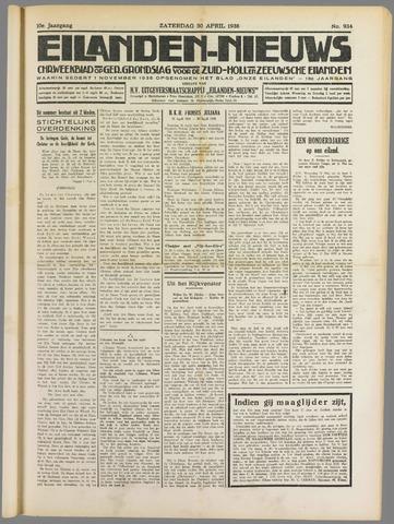Eilanden-nieuws. Christelijk streekblad op gereformeerde grondslag 1938-04-30