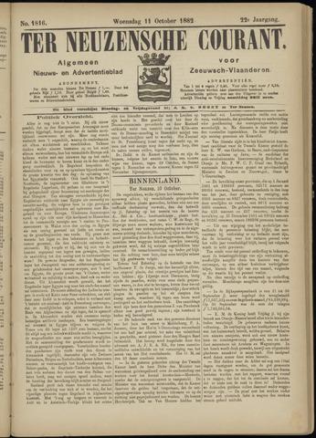 Ter Neuzensche Courant. Algemeen Nieuws- en Advertentieblad voor Zeeuwsch-Vlaanderen / Neuzensche Courant ... (idem) / (Algemeen) nieuws en advertentieblad voor Zeeuwsch-Vlaanderen 1882-10-11