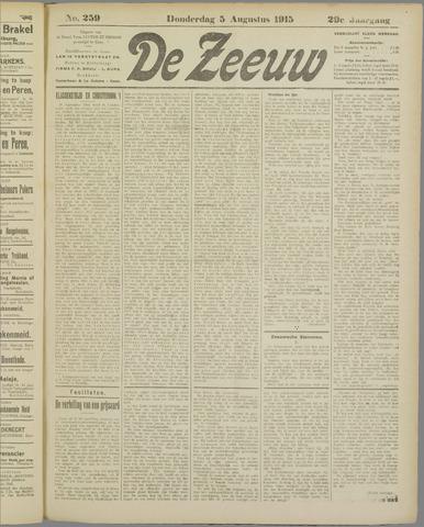 De Zeeuw. Christelijk-historisch nieuwsblad voor Zeeland 1915-08-05