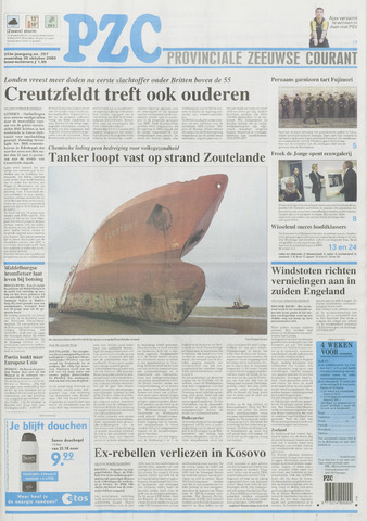 Provinciale Zeeuwse Courant 2000-10-30