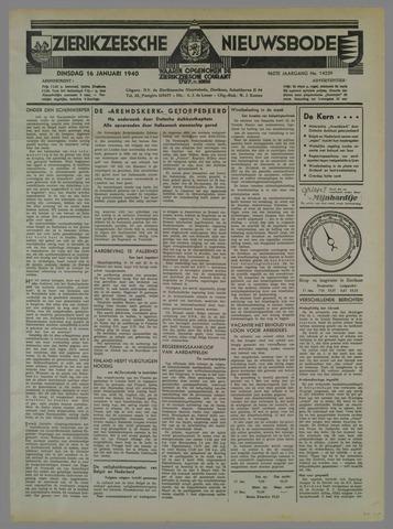Zierikzeesche Nieuwsbode 1940-01-16