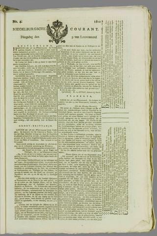 Middelburgsche Courant 1810-01-09