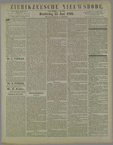Zierikzeesche Nieuwsbode 1891-06-25