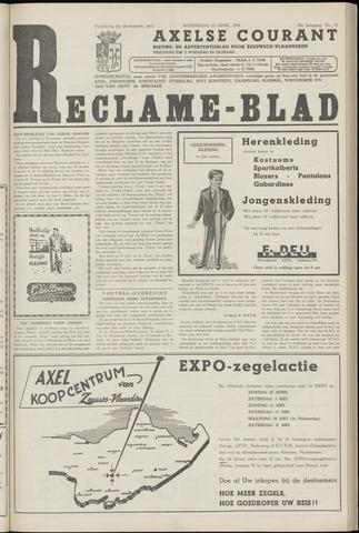 Axelsche Courant 1958-04-23
