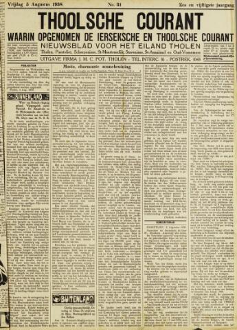Ierseksche en Thoolsche Courant 1938-08-05