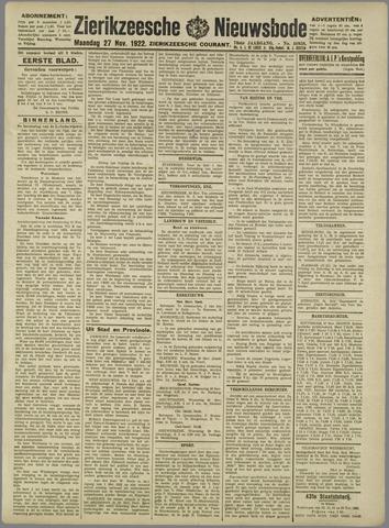 Zierikzeesche Nieuwsbode 1922-11-27