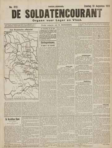 De Soldatencourant. Orgaan voor Leger en Vloot 1916-08-13