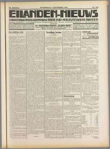 Eilanden-nieuws. Christelijk streekblad op gereformeerde grondslag 1940-11-06