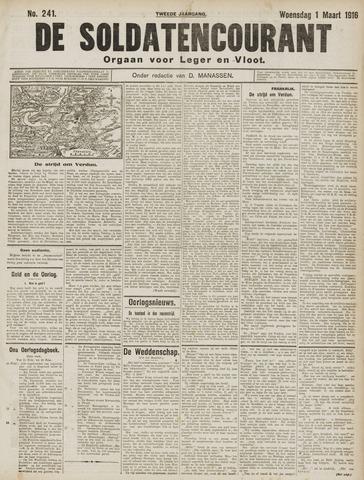 De Soldatencourant. Orgaan voor Leger en Vloot 1916-03-01
