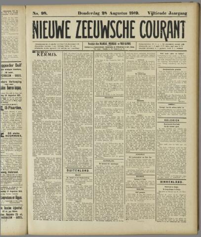 Nieuwe Zeeuwsche Courant 1919-08-28