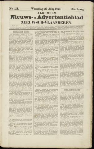 Ter Neuzensche Courant. Algemeen Nieuws- en Advertentieblad voor Zeeuwsch-Vlaanderen / Neuzensche Courant ... (idem) / (Algemeen) nieuws en advertentieblad voor Zeeuwsch-Vlaanderen 1863-07-29