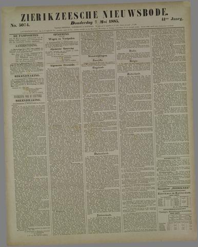 Zierikzeesche Nieuwsbode 1885-05-07
