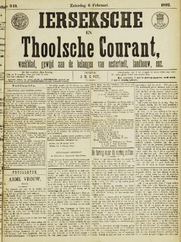 Ierseksche en Thoolsche Courant 1892-02-06