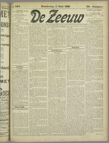 De Zeeuw. Christelijk-historisch nieuwsblad voor Zeeland 1921-06-02