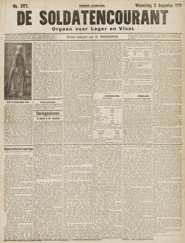 De Soldatencourant. Orgaan voor Leger en Vloot 1916-08-02